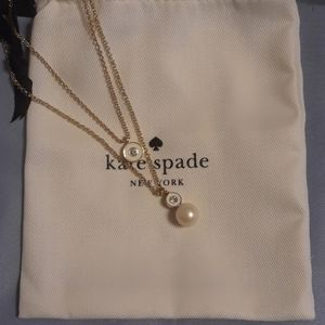 NWT Kate Spade Double Pendant Necklace